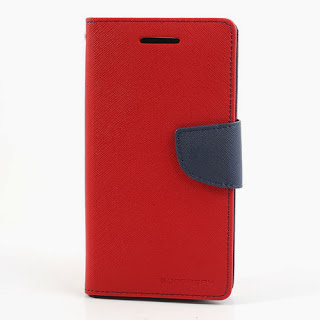 Mercury Fancy Diary Leather Case Wallet Stand with Card Slot for LG Optimus G2 D801 D802 D803 - Red