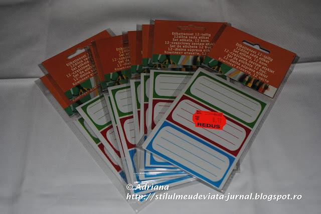 etichete, reducere rechizite Kaufland