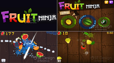 Free Download Fruit Ninja Sony Ericsson Satio, Vivaz S60v5 For Symbian