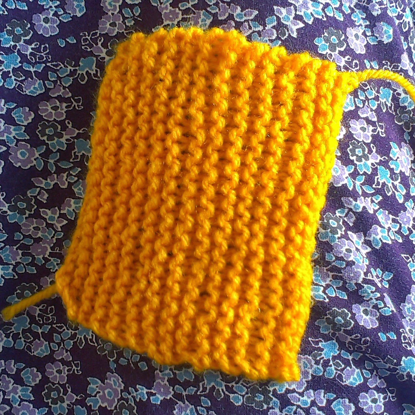 First square knitted