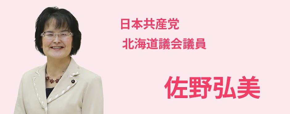佐野弘美 - 北海道議会議員 札幌市北区選挙区 日本共産党