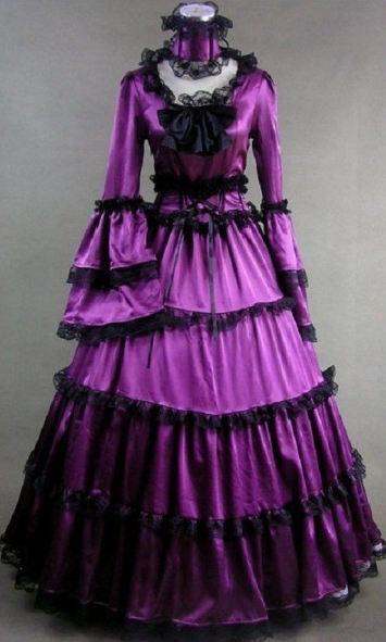Purple Lace Princess Gothic Victorian Dress