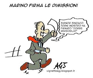 marino, dimissioni, papa francesco, vignetta satira
