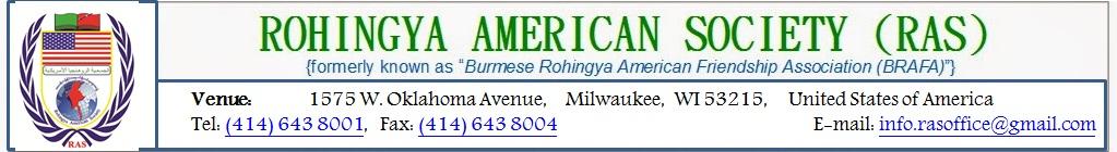 ROHINGYA AMERICAN SOCIETY (RAS)