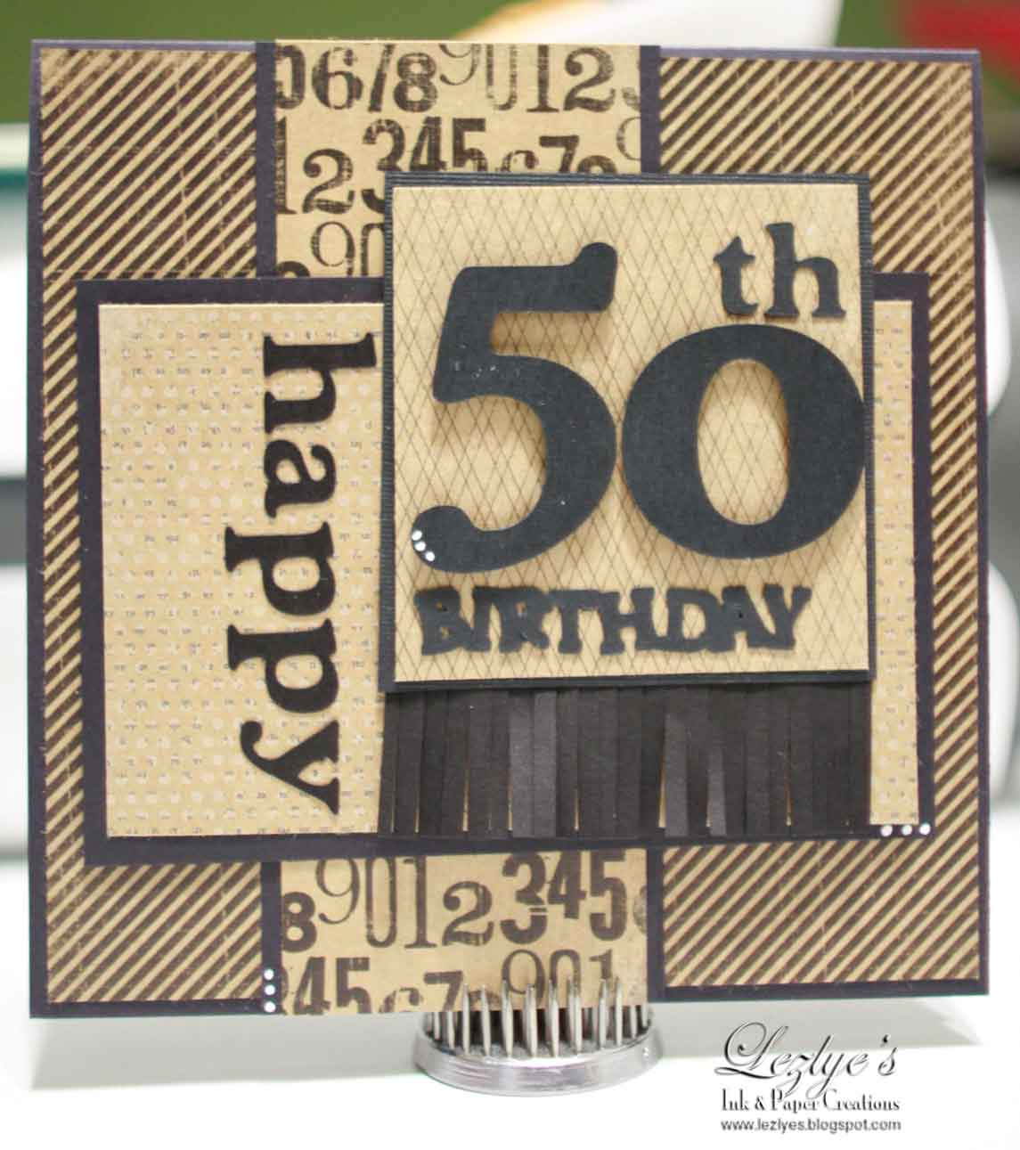 Lezlye Lauterbach, Designs: 50th Male Birthday Card-Shop