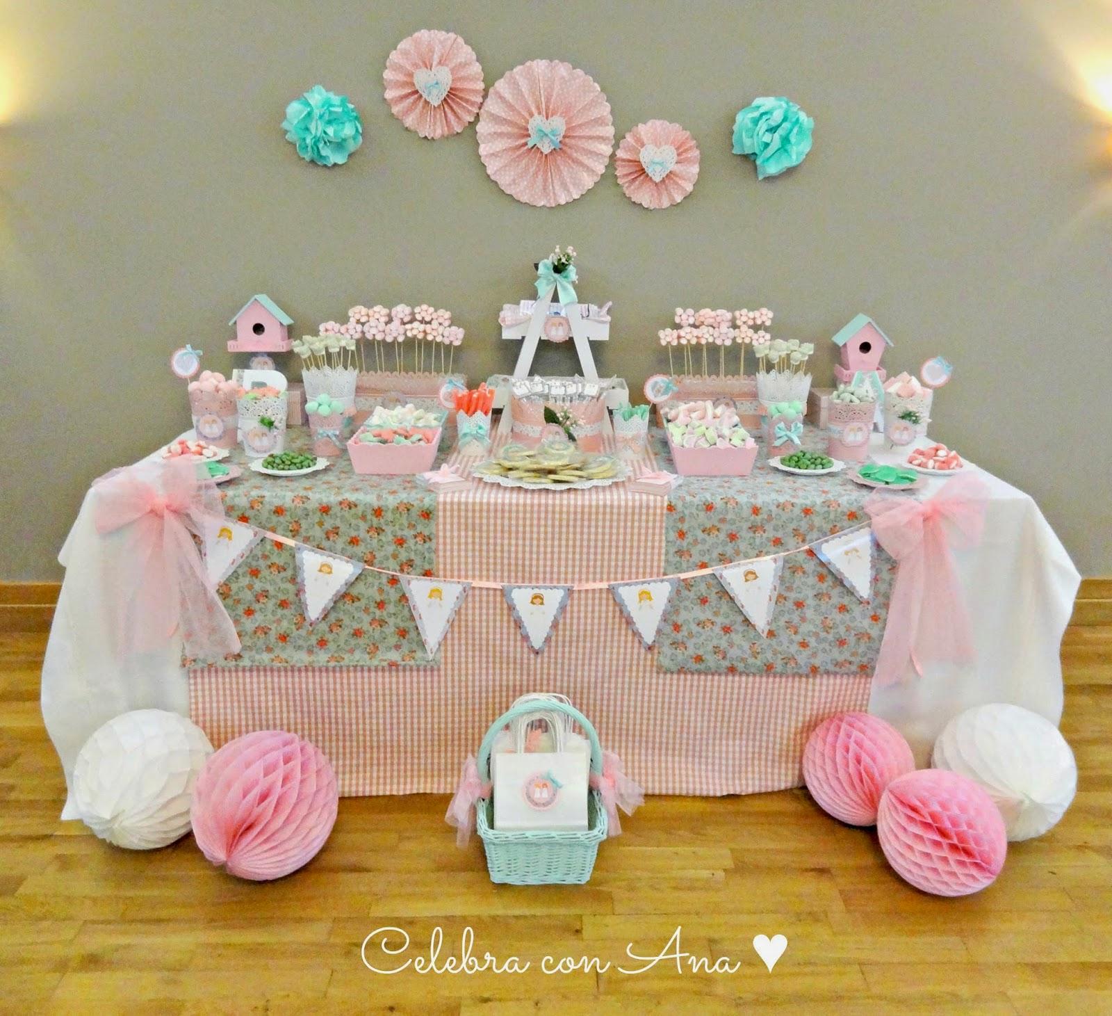 Celebra con ana compartiendo experiencias creativas - Ideas para decorar una mesa de comunion ...