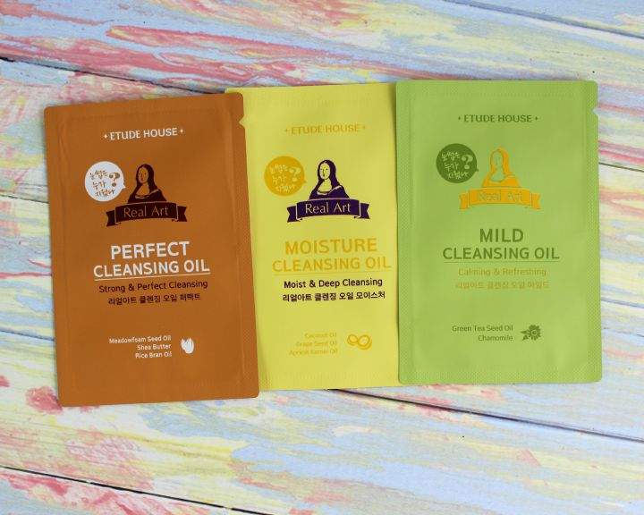 Etude House Real Art cleansing oil samples