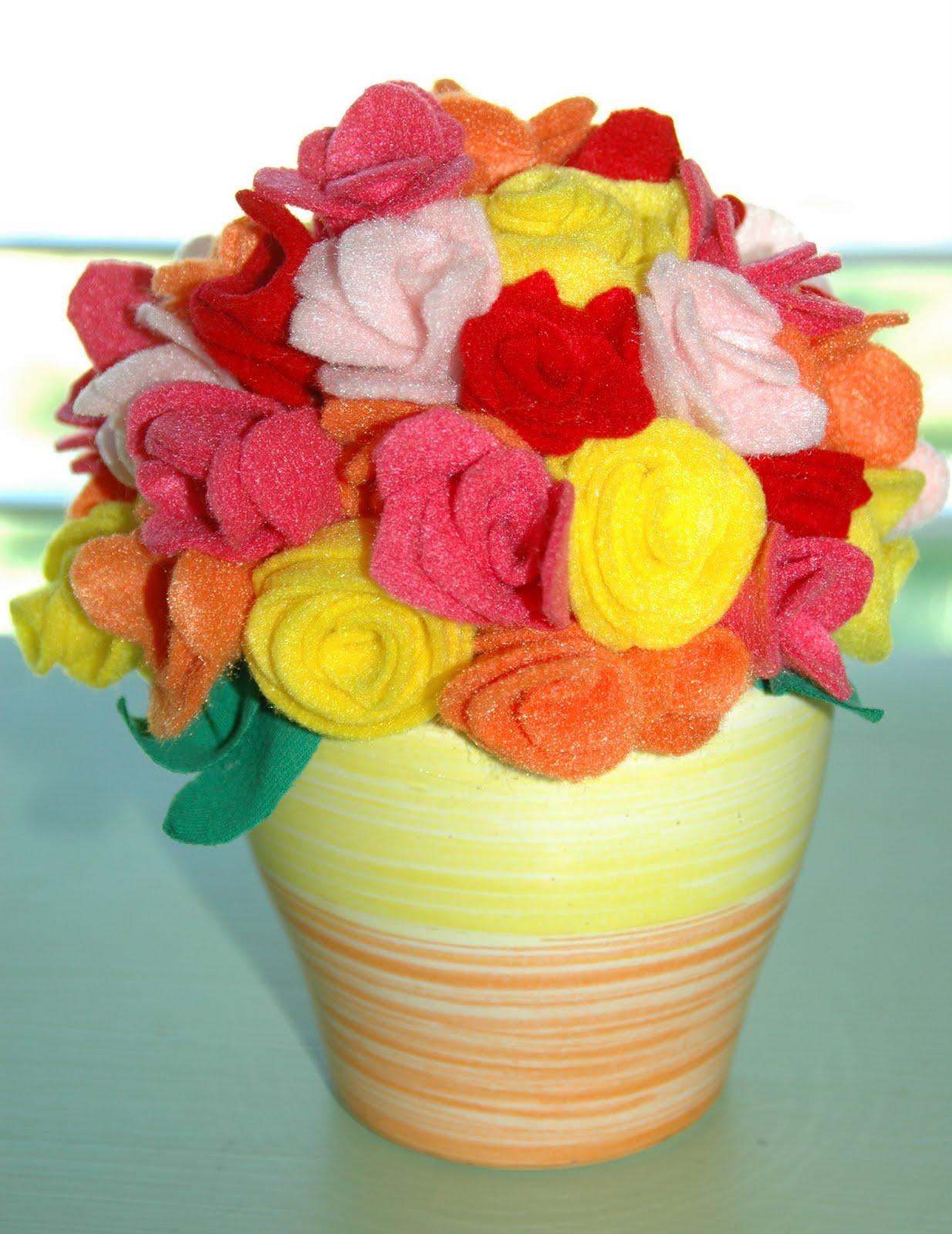 Lipstick And Laundry Felt Flower Bouquet