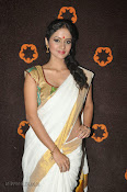 Actress Nivitha Glamorous photos in Saree-thumbnail-4