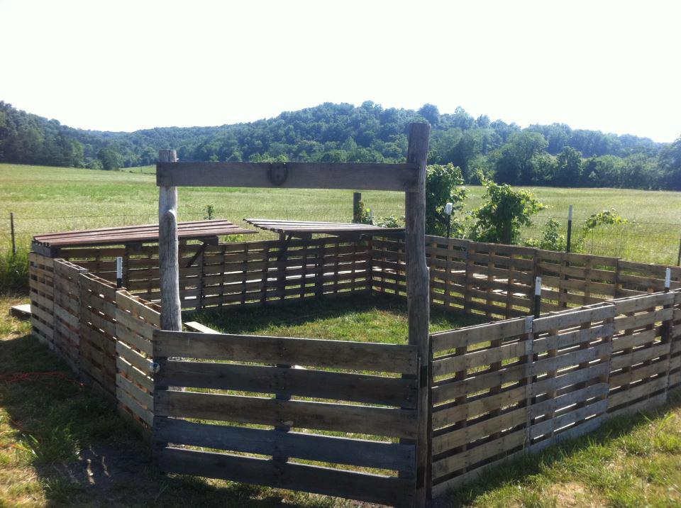 pallet fence self reliant homesteading
