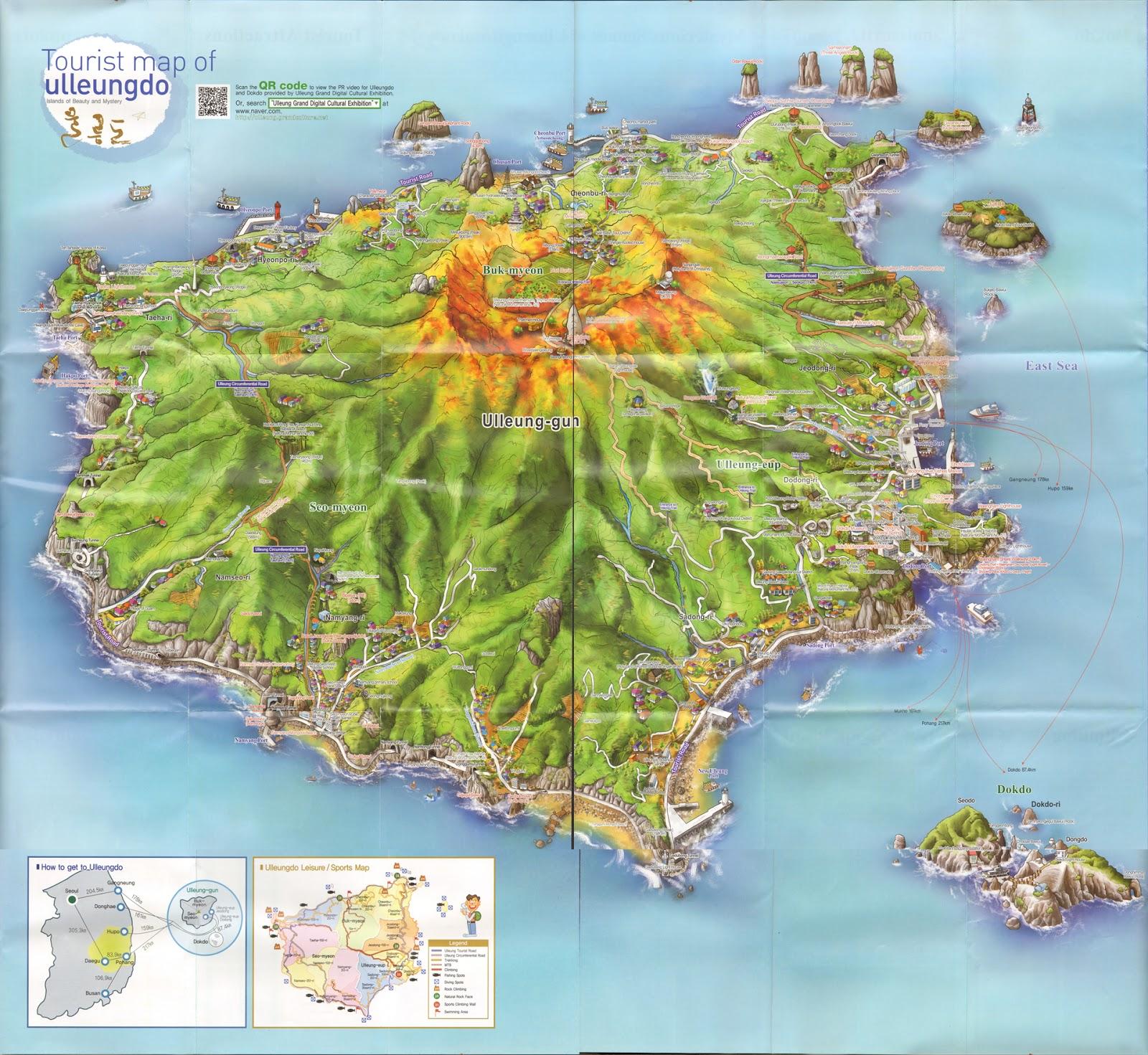 Ulleungdo Island Map
