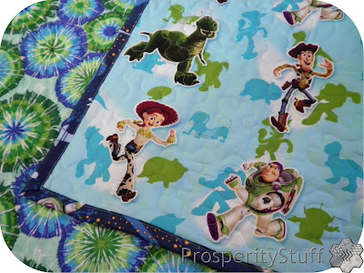 ProsperityStuff Baby Quilt, Toy Story