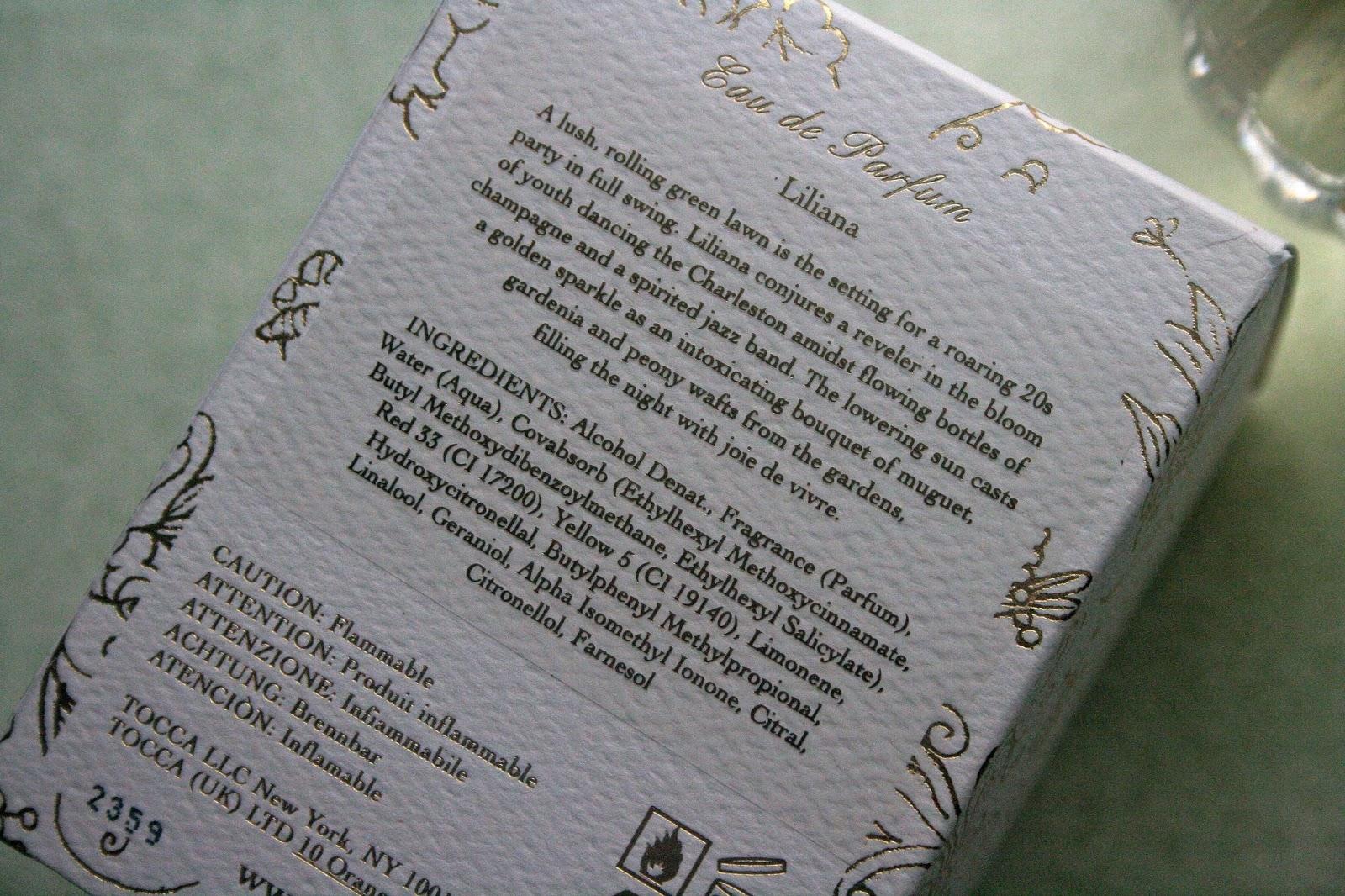 Tocca Liliana Eau de Parfum Ingredients