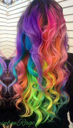Pastel Hair Coloured Fashion Models