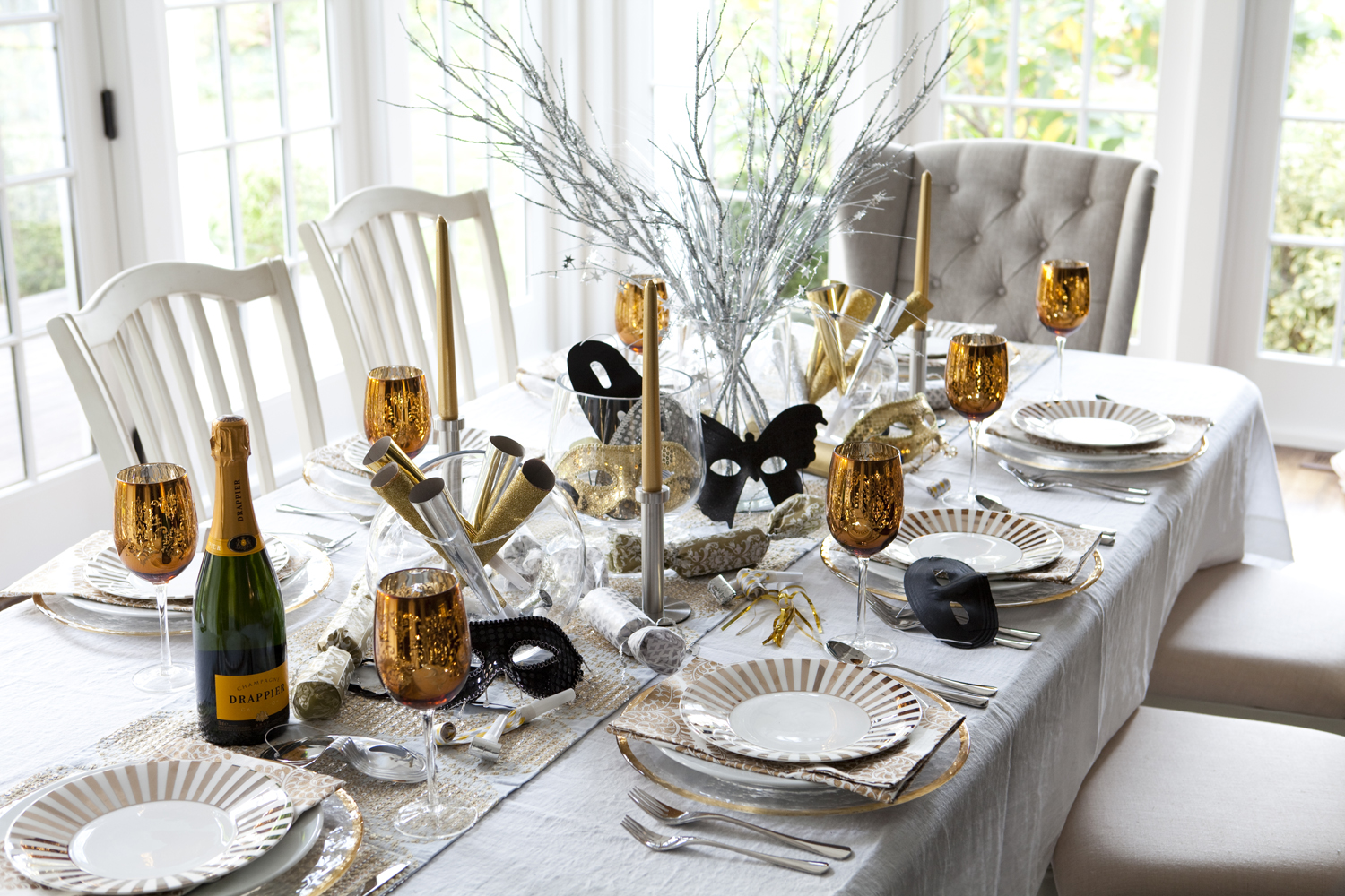 Karin lidbeck december 2012 for Dinner table decoration ideas