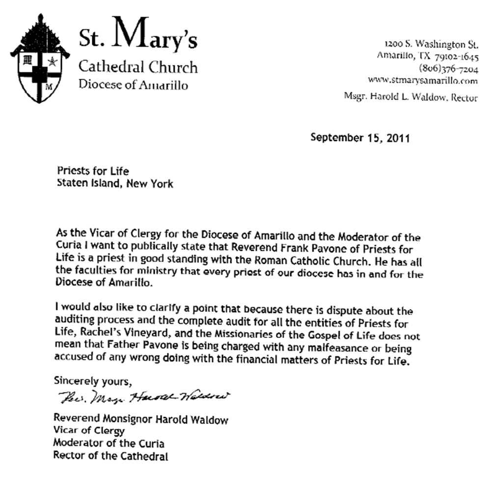 Letter Of Reference About A Vicar