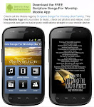 Listen to Scripture songs on your Mobile - App for Android Device