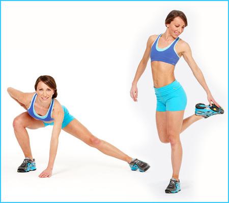 Упражнение за отслабване в краката - Сгъване на крака по диагонал