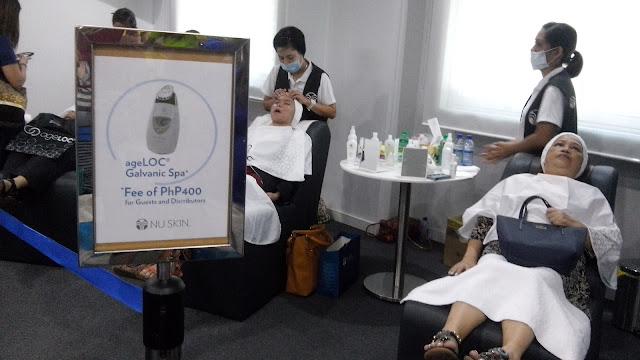 ageloc galvanic spa, ageloc galvanic spa price 400, device, facial gel,
