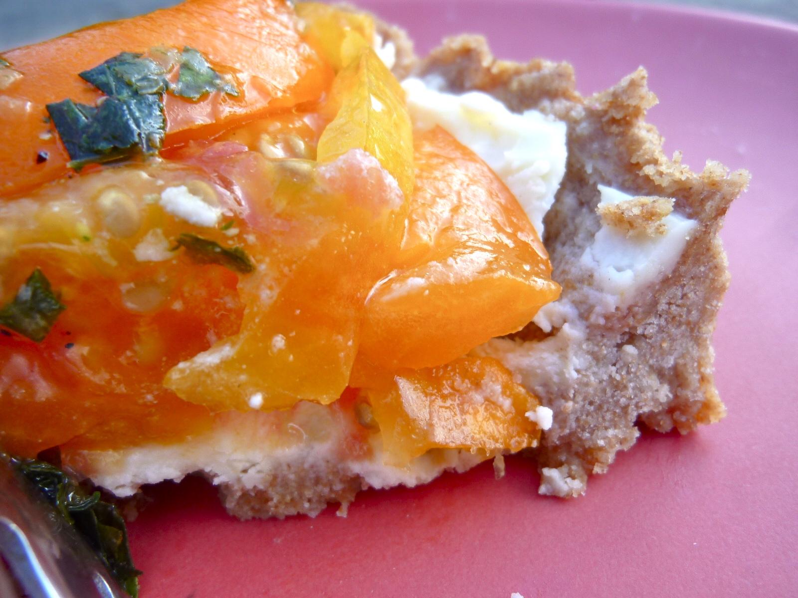 ... Mad Hausfrau: Heirloom Tomato Tart with Whole Wheat Parmesan Crust