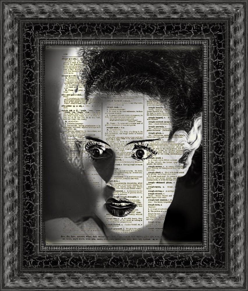 20-Bride-of-Frankenstein-Belle-Old-Books-and-Dictionaries-in-Re-Imagination-Prints-www-designstack-co