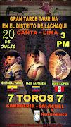 CORRIDA DE TOROS DEL 20 DE JULIO EN LACHAQUI - CANTA
