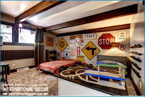 teen boys room decor,cool boys room,beams ceiling