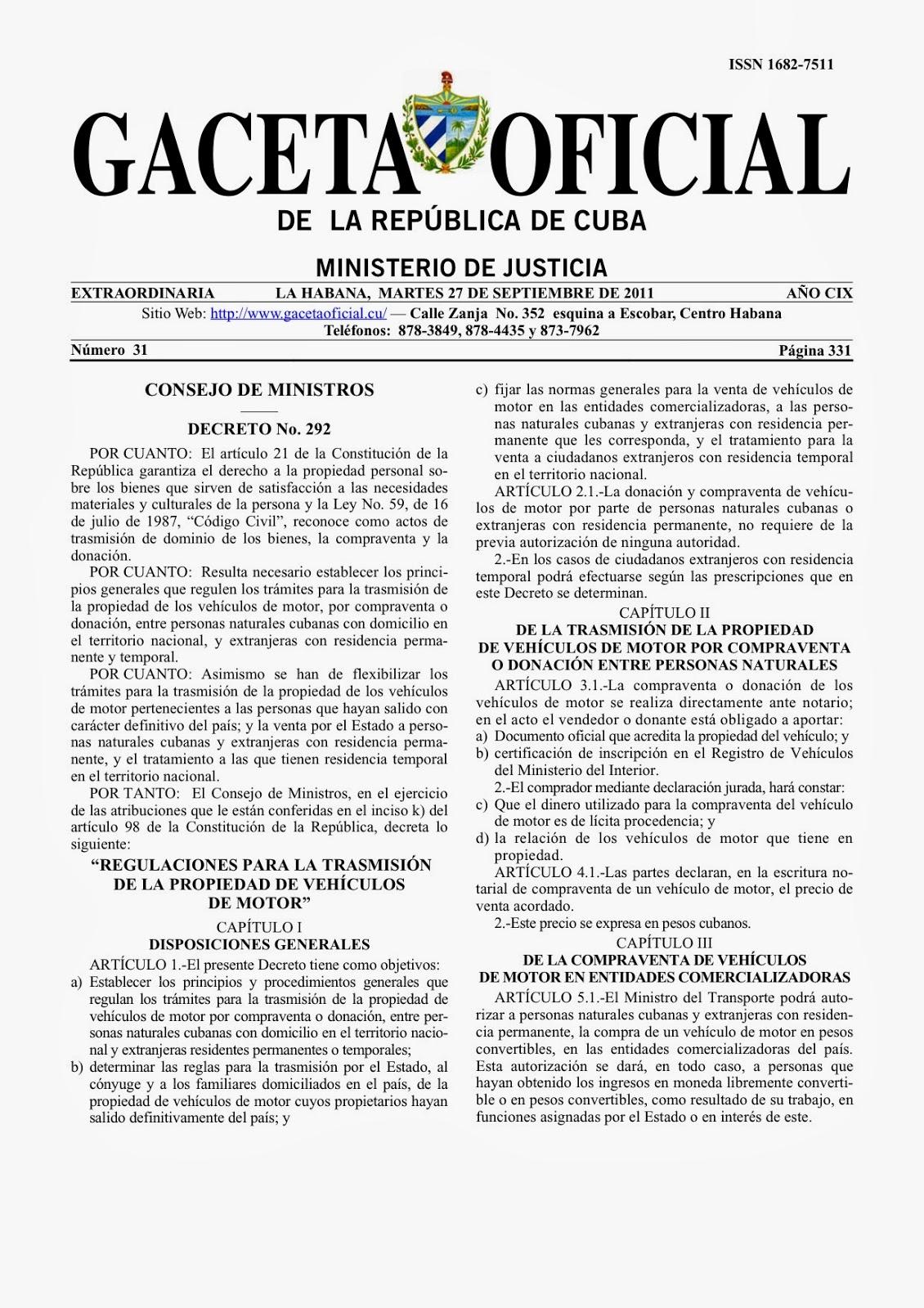 de automóviles y motos en Cuba a ciudadanos cubanos | Notidiario de