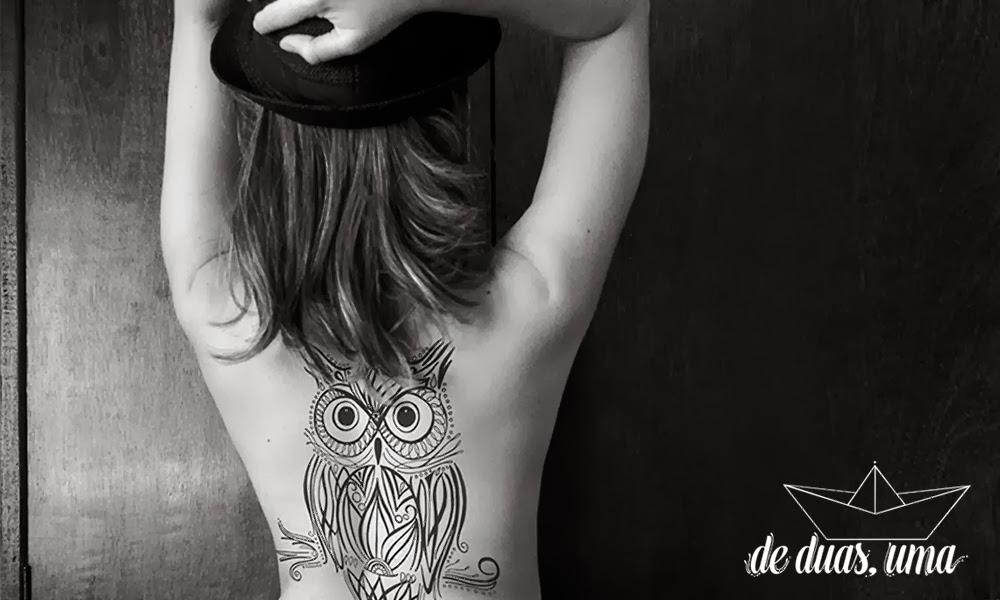 amazing owl tattoo  de duas uma