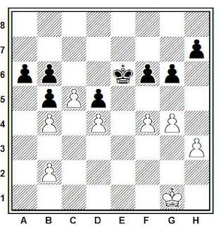 Posición de la partida de ajedrez Svetkovich - Shurek (Trnava, 1989)