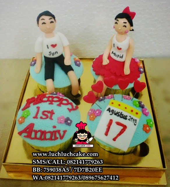 Cupcake Anniversary Romantis Untuk Pacar Daerah Surabaya - Sidoarjo
