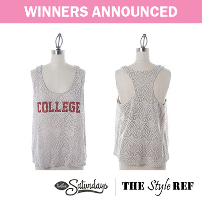 Winners announced for the College Tank Giveaway!