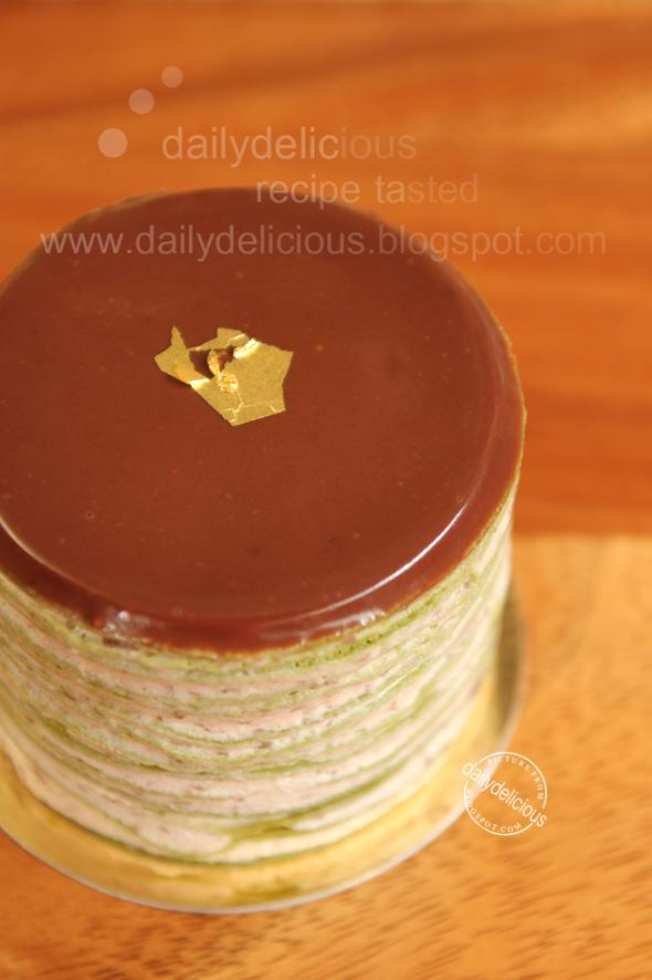 Mini green tea cake recipe