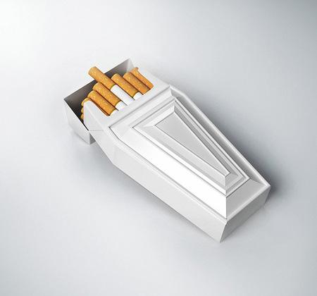 Bungkus Rokok Berbentuk Peti Mati