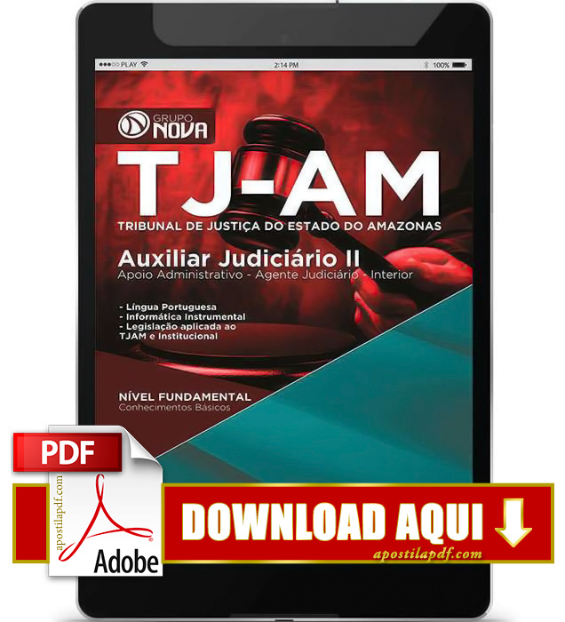 Apostila TJ AM 2015 Auxiliar Judiciário PDF Download
