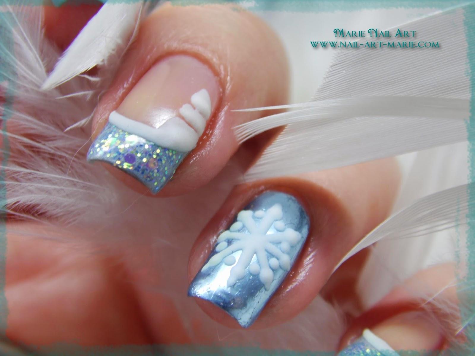 nail art givré nouvel an6