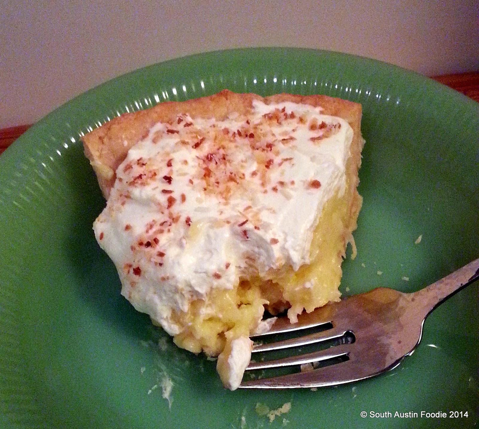 Pie Plante coconut cream pie