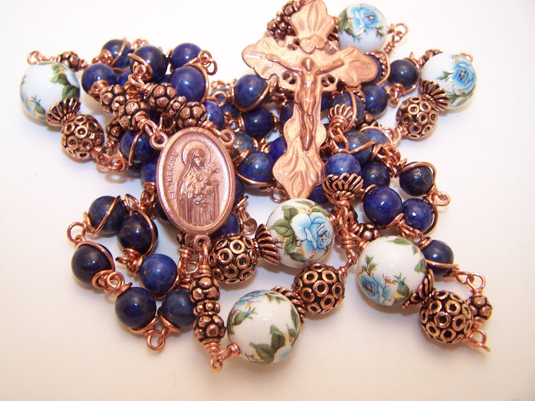 No. 123.  Copper Collection! Rosary of the Sacred Heart Of Jesus/St. Teresa The Little Flower