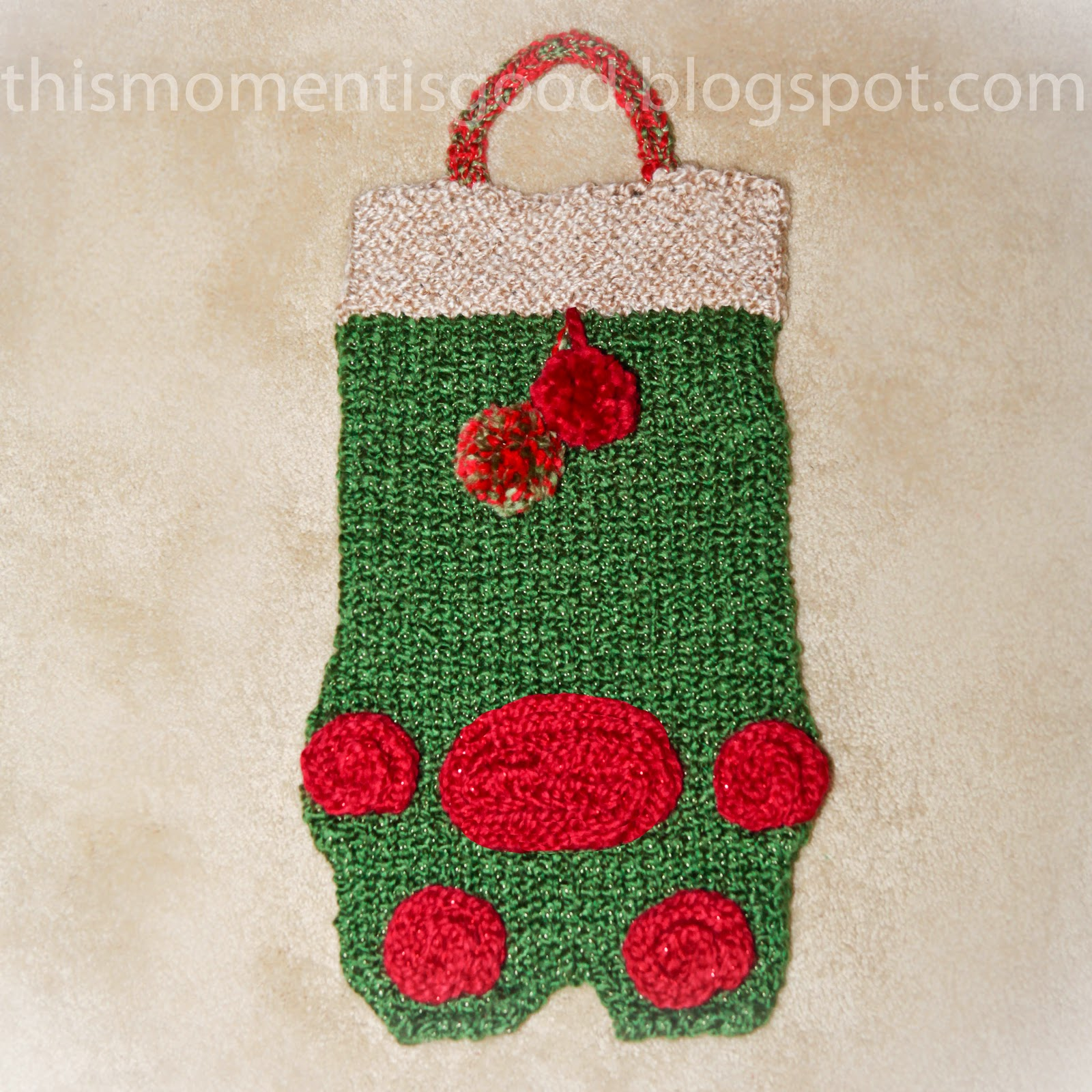 Easy Stocking Knitting Pattern : Loom Knitting by This Moment is Good!: LOOM KNIT PET STOCKING PATTERN...