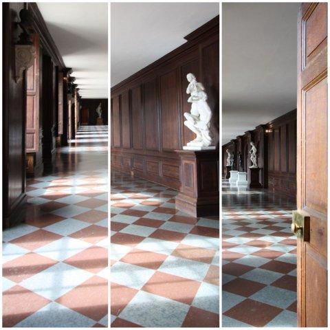 Sala de esculturas en el Palacio de Hampton Court, Londres