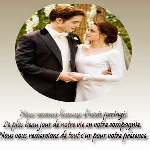 Carte remerciement mariage photo