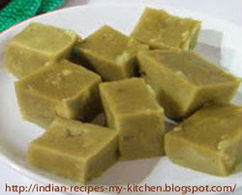 Yellow mung dal cake