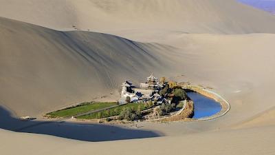 Un oasis en el desierto de Gobi