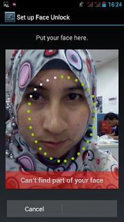 pengunci wajah di smartphone android