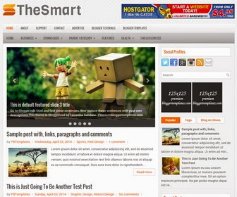 TheSmart is a Responsive, SEO Friendly, 2 Columns Blogger Template with 3 Coulmns Footer Widgets Area. TheSmart Blogger Template has a jQuery Slider,