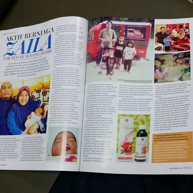 Penulis di Media, majalah Sri Dewi & Keluarga keluaran November 2014