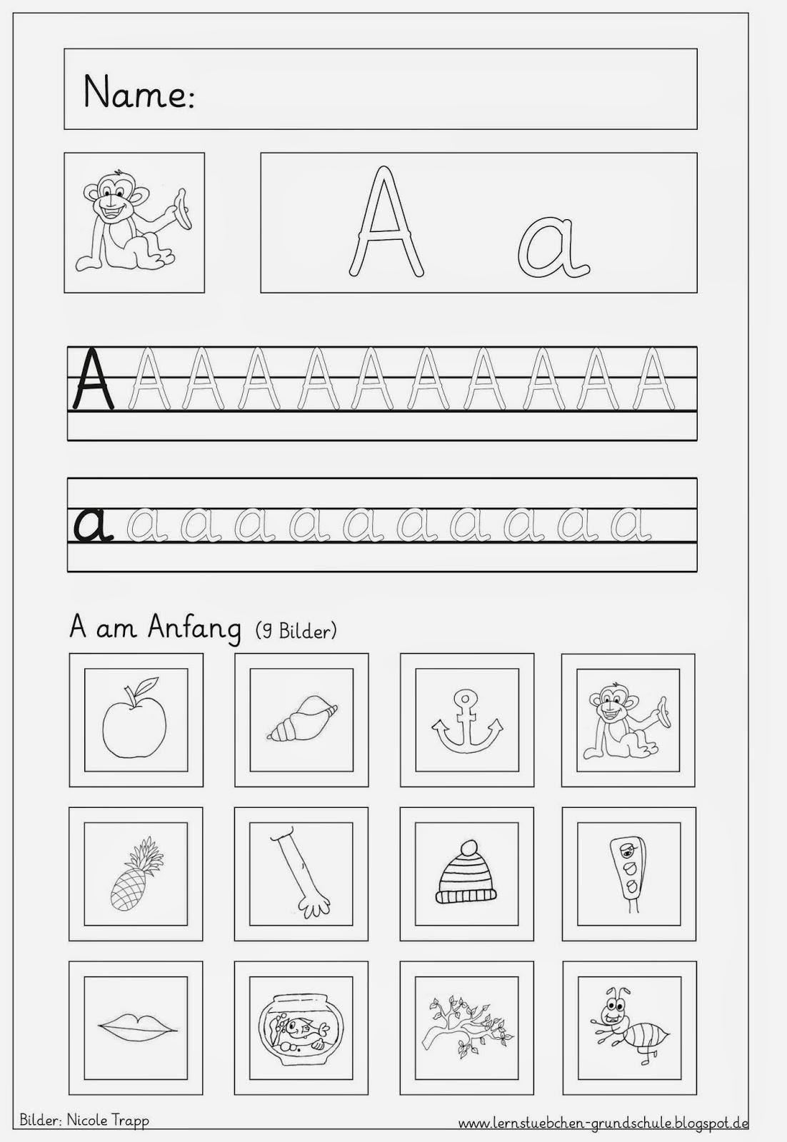 Arbeitsblatt Buchstaben Wiederholen : Lernstübchen vertiefungsblätter zu den eingeführten