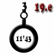 Ejemplo 19.e: Cañón (x3) de calibre 11'43
