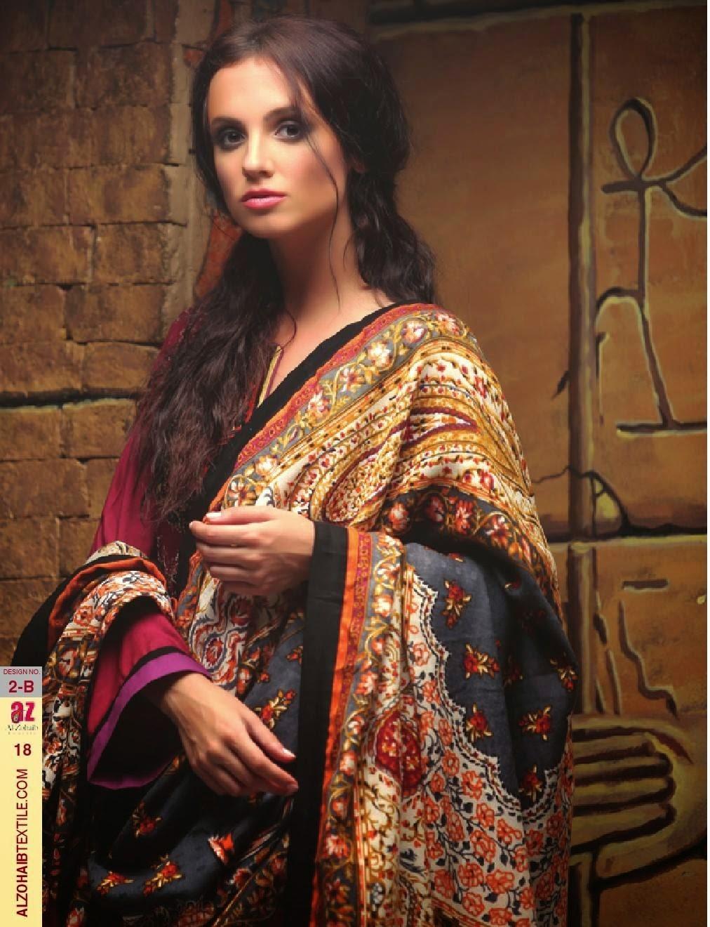 Al-Zohaib Ayesha Zara Shawls 2014-2015