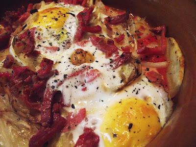 Huevos al plato...
